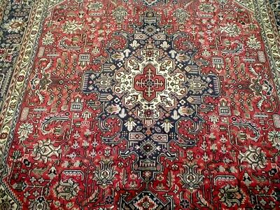 10X7 1960's EXQUISITE MINT HAND KNOTTED ROOM SIZE WOOL HERIZ TABRIZ PERSIAN RUG