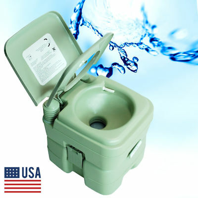New 5.3 Gallon Travel Outdoor Camping Boat Portable Toilet Potty Commode US