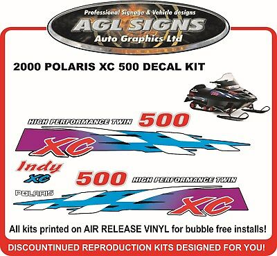 2000 POLARIS INDY XC 500 HOOD DECALS graphics reproductions