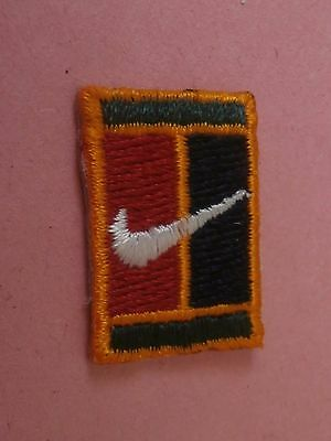 "Nike Swoosh on Red and Black Background - New Iron-On Tiny 1"" Patch"