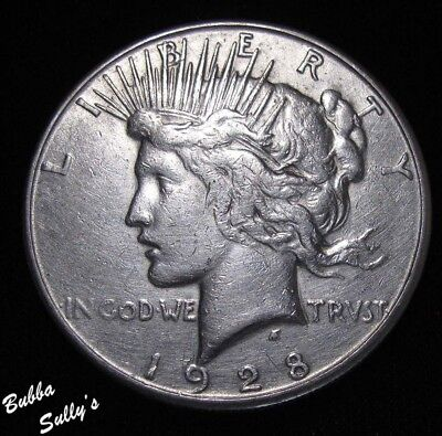 1928 S Peace Silver Dollar <> XF Details
