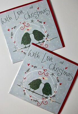 CHRISTMAS CARDS X12, JUST 25p, GLITTERED, WRAPPED, SUPERB! (CD4