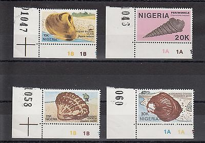 Timbre Stamp  4  Nigeria Y&t#505-08 Coquillage Shell Neuf**/mnh-Mint 1987 ~A52
