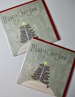CHRISTMAS CARDS X12, JUST 25p, GLITTERED, WRAPPED, SUPERB! (CD8