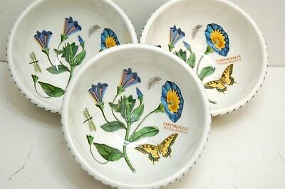 3 The Botanic Garden Portmeirion Cereal Bowl Salad Dessert Trailing Bindweed