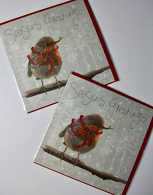 CHRISTMAS CARDS X12, JUST 25p, GLITTERED, WRAPPED, SUPERB! (CD9