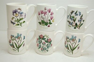 Lot of 6 Botanic Garden Portmeirion Coffee Tea Mugs Various