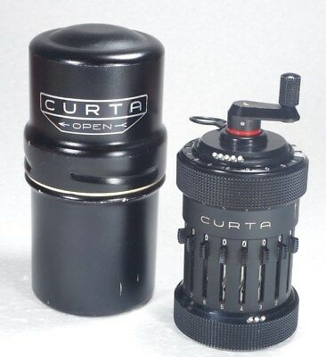 Curta Type I  mechanical calculator NEAR MINT and PERFECT WORKING w/can+manuals