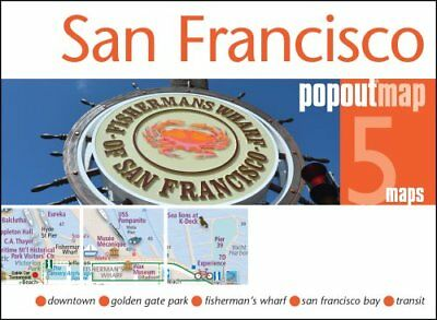San Francisco PopOut Map by PopOut Maps 9781910218266 (Sheet map, folded, 2016)