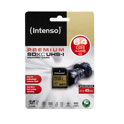NEW! Intenso 3421490 64GB UHS-1 SDXC Card