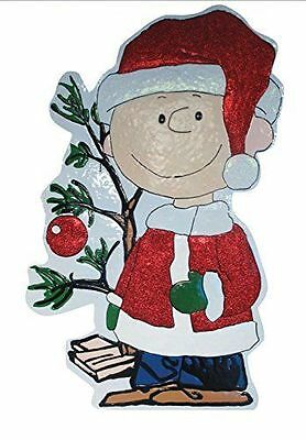 ProductWorks 42-Inch Peanuts Metal Charlie Brown with Tree Christmas Decoration