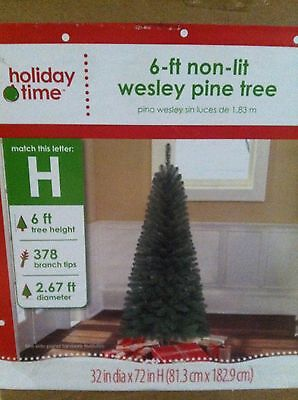 6 Ft Unlit Wesley Pine Artificial Christmas Tree New in Box