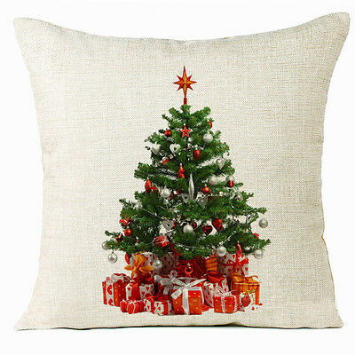 Xmas Christmas Tree Sofa Bed Home Decoration Festival Pillow Case Cushion Cover