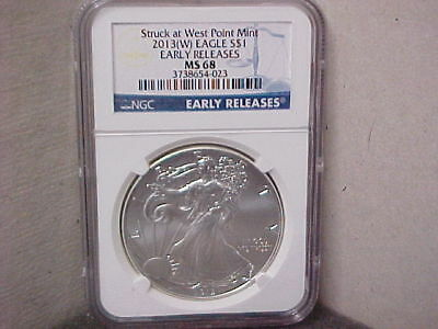 2013(W) $1 NGC MS68 Early Release American Silver Eagle