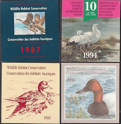Canada -Four Mint Never Hinged Duck Booklets  -See Scan!!