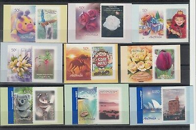 2005 Markinf the Occasion set of 9 Imperforated at right.MNH.Very rare & cheap