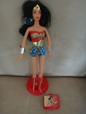 Mattel DC Comics Barbie Doll - Wonder Woman 2003 with Stand and Accessories