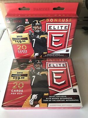 Lot Of (2) 2016 Panini Donruss Elite Football Hanger Box Factory Sealed NIB NEW
