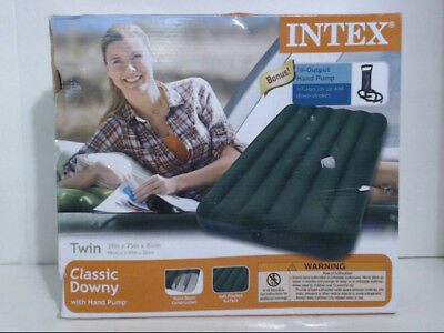 Intex 66763MY Downy Air Mattress Green Size Twin