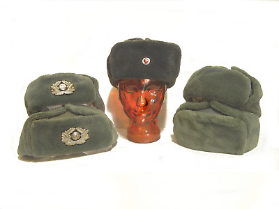Hat Lot FWA GERMAN FOUL WEATHER HATS HALLOWEEN COSTUME ORIGINAL MILITARY SURPLUS