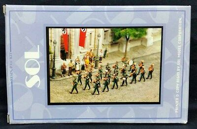 Sol Models #MM083 1/32 54mm GERMAN WWII MILITARY BAND Resin 22 Figures Model Kit