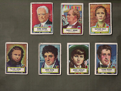 1952 Topps Look N See Lot X 7 Cards