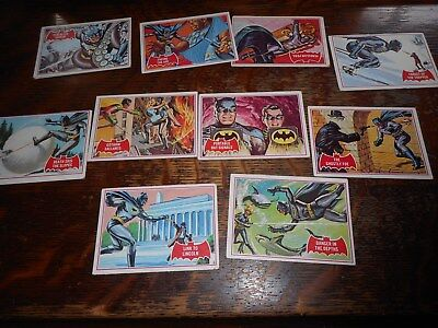 Lot Of 11 Topps Batman Puzzle Backs Trading Cards #14A Circa 1960's