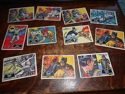 Lot Of 11 Topps Batman Trading Cards #17 Circa 1960's