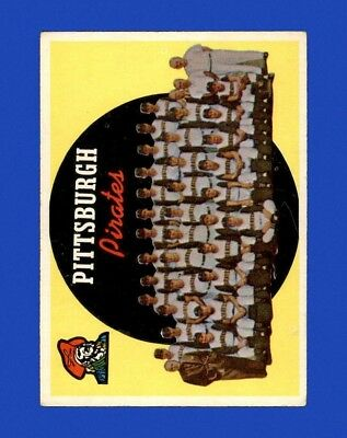 1959 Topps Set Break #528 - Pittsburg Pirates Team POOR-GOOD (MARKED) M27323
