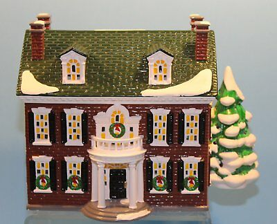 Snow Village Dept. 56 FEDERAL HOUSE 54658 w/ Lights Or. Packing RETIRED 1997