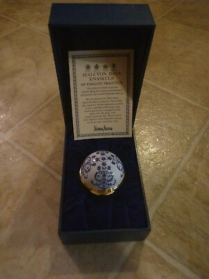 Boxed Halcyon Days Neiman Marcus Enamel Medici Ring Box - As is!