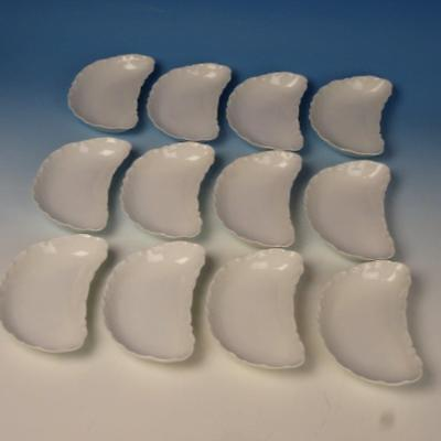 Haviland Limoges - All White Ranson - 12 Bone Dishes - 6 inches