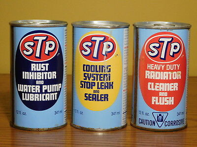 Lot of 3 Vintage STP Motor / Auto Treatment Product Cans (FULL) Sealed