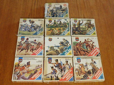 (10 BOXES) Antique / Vintage Airfix HO/OO Toy Soldiers Model Kits (HUNDREDS)