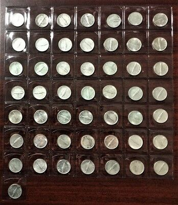 Lot Of 50 - 1967 (Fish)  Silver Canadian/canada 10 Cent Coins Silver Coins #2