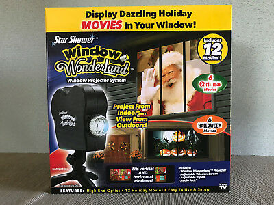 BNIB Star Shower Window Wonderland Christmas Halloween Window Movie Projector