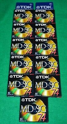 NEW Lot 11 TDK MD-SG74 GOLD MiniDisc NEW Factory Sealed