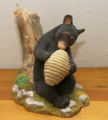 Country Artists Natural World Black Bear Cub with Beehive - Retired - New in Box