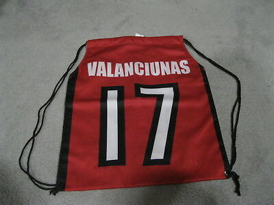 "Jonas Valanciunas Toronto Raptors # 17 Drawstring Basketball Bag 17"" By 14"""