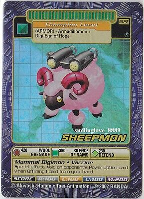 Mint Digimon Digi-Battle Booster Series 5 Holo Foil Rare Card - Bo-258S Sheepmon