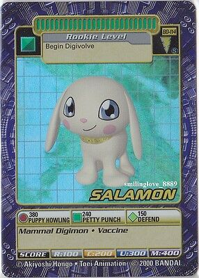 Mint Digimon Booster Series 3 Ccg Holo Foil Card - Bo-114S Salamon + Bonus Cards