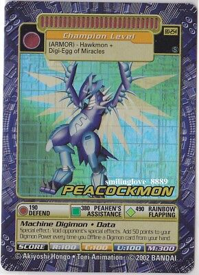 Mint Digimon Booster Series 5 Holo Foil Card - Bo-254S Peacockmon + Bonus Cards
