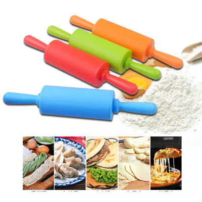 1X Mini Silicone Dough Rolling Pin Roller Baking Kitchen Pastry Tool Hot Sale