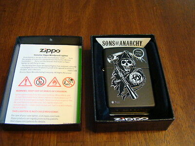 Sons of Anarchy Fear The Reaper Black Matte Zippo Lighter NIB