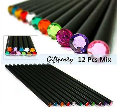 12pcs Natural Black Wood HB Pencil Student Stationery for School Office Supplies