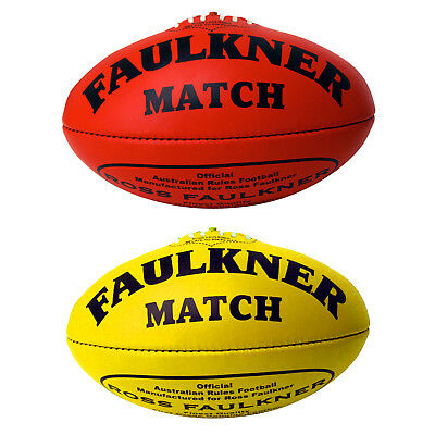 Faulkner Match Football - Leather - Size 5 - Yellow Or Red Sqsp