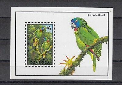Timbre Stamp Bloc Ile Dominica Y&t#229 Oiseau Perroquet Neuf**/mnh-Mint 1993~A67