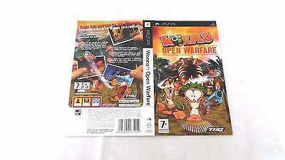 WORMS : OPEN WARFARE  : ORIGINAL COVER (ARTWORK/SLEEVE) ONLY , psp