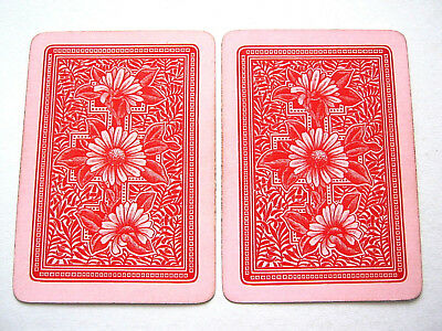 Antique Playing Cards Single Swap One Card Goodall Art Nouveau Pink 1890