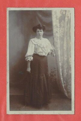 Cornwall St Blazey Nr St Austell Unknown Lady Pre Ww1 Dalby Smith Rp Postcard